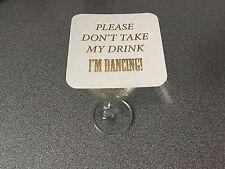 40 x matrimonio personalizzato non prendere la mia bevanda IM Danza Sottobicchieri Bevande Mats