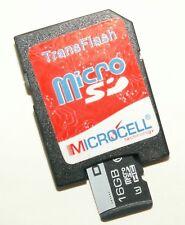 Micro SD Handy Speicherkarte + SD Adapter -16GB für kompatible Mobiltelefone - 1