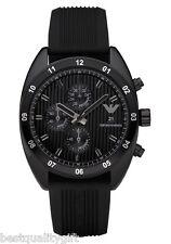 EMPORIO ARMANI BLACK RUBBER CHRONOGRAPH MEN WATCH AR5928-NEW IN BOX