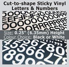 """1020 x Sticky Lettere & Numeri 0.25 """", autoadesiva, Plastica Vinile LETTERING"""
