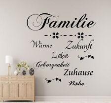 Wandtattoo  AA037 Familie.Zuhause...Spruch Wohnzimmer.Flur,Diele,Wandaufkleber