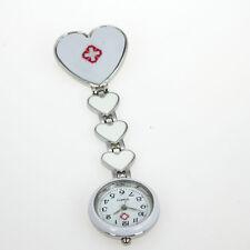 Casual Watch New Fob Heart Brooch Nurse Quartz Pin Stainless Steel Watch GL13