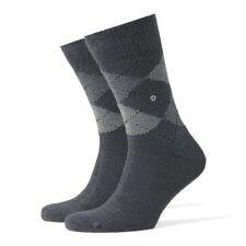 BURLINGTON Men's Classic Extra Soft Argyle Preston Everyday Socks Grey UK6.5-11