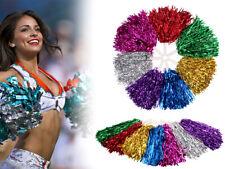 1 Paar Metallic Schimmer Pompom Cheerleader Tanzwedel Wedel Puschel Pom-Pon
