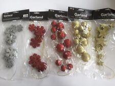 Christmas Garland 2m Glitter Snowflakes or Balls