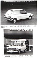 Austin Metro 310 L 1.3 Van  x 2 1986 original b/w Press Photographss