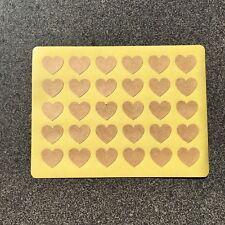 Blank Love Heart Stickers   Kraft   BL302