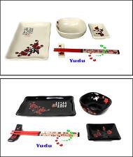 5 piezas essservice Set Cuenco Banco de cuchillería Plato Palillos Sushi