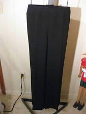 PETITE BLACK CREPE DRESS PANTS SATIN BACK TALBOTS CLASSIC SIDE ZIP 2P $118