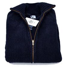 Maglia C.P. Company maglione Uomo Men Jumper Mens Sweater Blu Full Zip