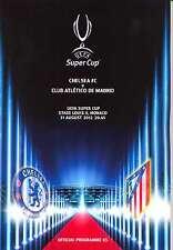 SUPER CUP 2012 Chelsea V Atletico Madrid MINT programma **