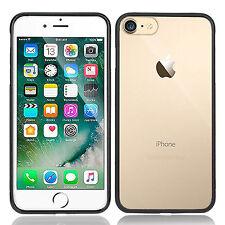 iphone 6s Plus&iphone 7 Plus Case Clear Crystal Back Soft Black TPU Thin Bumper