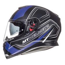 MT Thunder 3 SV Trace Full Face DVS Motorbike Motorcycle Helmet Matt Black Blue