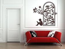 Secret Garden Door, Wall Art Sticker Decal. Story, Library, Children, Reading
