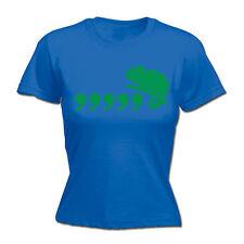 Virgola CAMALEONTE Da Donna T-shirt Tee Natale 80 S PUN Geek Nerd intelligente Divertente Regalo