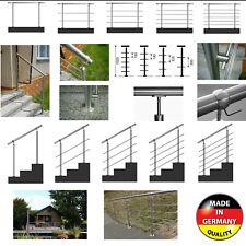 Edelstahl Handlauf Geländer Treppen Brüstung Balkon Terrasse Aufmontage Stufenmo