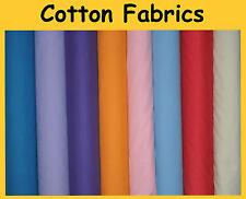 Plain Poplin 100% Premium Pure Cotton Cloth Dress Craft Lining Upholestry Fabric