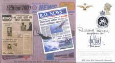 CC72 RAF News cover signed actors Briers & Hudd