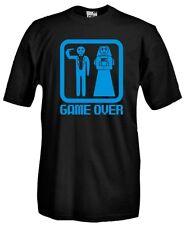 T-Shirt girocollo manica corta Fun G31 Happy Wedding! Game Over Addio celibato