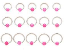 1 PIECE 16g Rose Quartz Organic Stone Captive Bead Ear Tragus Ring 4MM Bead