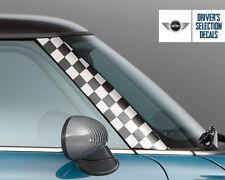 A Pillar BMW Mini Cooper R50 R53 Checker racing flag Graphics Decal