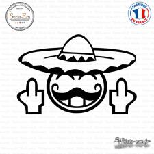 Sticker JDM Smiley Mexicain Fuck You Decal Aufkleber Pegatinas D-413