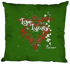 (10835-1 Verde) Cojín Decorativo 40 x 40 cm con relleno + Imprimir AMOR luxury