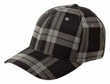 Flexfit Baseball cap 10295 Tartan Plaid Black Grey