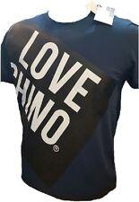 CAMISETA LOVE MOSCHINO AZUL LOGO LOVE CHINOS