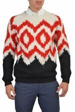 Prada Men's Alpaca Wool Multi-Color Long Sleeve Crewneck Sweater US XS s
