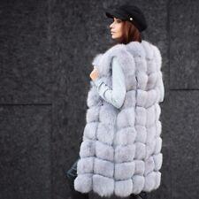 Real Women Vulpes Fox Fur Vest Luxury Natural Fur Gilet Fashion Waistcoat