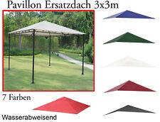 Ersatzdach Witterungsbeständig Pavillon 3x3 m 180g/m² viele Farben