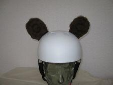 ours marron oreilles pour casque de ski snowboard vélo peluche 1 paire
