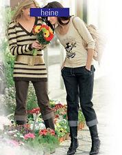 NUOVO: WOW! 7/8 - jeans con risvolto contrasto cuciture bottoni oro 46 Heine GREY * 194267