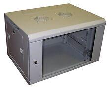 """9U GRIGIO 550mm profondo 19 """"Muro Armadio rack di dati utilizzati con pannelli patch PDU ETC"""