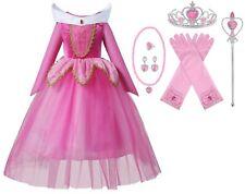 Sleeping Beauty Princess Aurora Costume Halloween Cosplay Kids Party Girls Dress