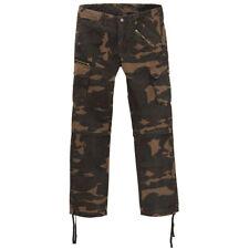 King Kerosin Biker Rockabilly Vintage Cargo Jeans Hose / Shorts Dual Camouflage