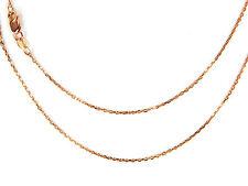 9ct oro rosa sobre Plata De Ley Brillante Talla Diamante Cadena Belcher