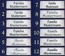 Edelstahl V2A Briefkastenschild Klingelschild Namensschild Türschild 60x20mm