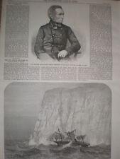 Late painter John Watson Gordon & SS Royal Standard hits iceberg 1864 old prints