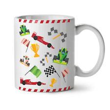 Formula Racing Auto Car NEW White Tea Coffee Mug 11 oz | Wellcoda