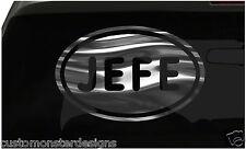JEFE Sticker Spanish Boss Leader Euro Oval all chrome and regular vinyl colorss