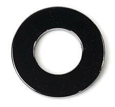 """USA Flat Washers Black Chrome Plated Steel SAE Round Washer - Sizes 1/4"""" - 9/16"""""""