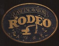 Vintage Buckle 1985 CASE EXCAVATOR RODEO Mens Belt Buckle Backhoe Tractor