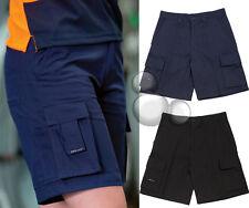Ladies Multi Pocket Shorts Size 8 10 12 14 16 18 20 22 24 Black Navy Work Cargo