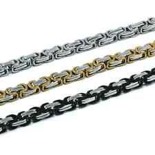 Königskette Bikerkette Edelstahlkette Silber/Gold/Schwarz 5,5mm, 18 Varianten !!