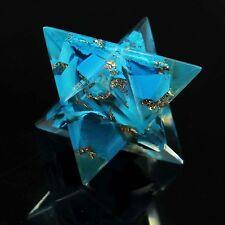 Turquoise Stone Merkaba Orgone Reiki Gemstone Spiritual Healing Sacred Geometry