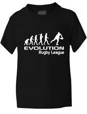 Evolución de la Liga de Rugby Chicas Chicos T Shirt Rugby Regalo Tamaños 1 - 13 Años