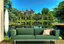 3D Garten Schloss Fluss 893 Tapete Wandgemälde Tapeten Bild Familie DE Lemon