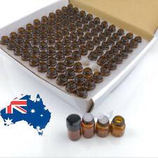 10X 4000X 1ml - 5ml Dram Glass Bottle Sample Essential Oils Orifice Reducer drop